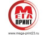 Логотип МЕГА ПРИНТ Салон широкоформатной печати